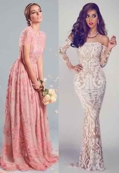 صور أحدث الفساتين التصميمات المميزة لبلقيس فتحى جميلة