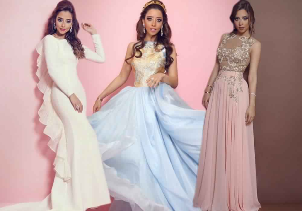 صور أحدث الفساتين التصميمات المميزة لبلقيس فتحى منوعة