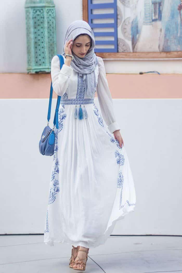 أفضل تصميمات لملابس المحجبات للمناسبات جميلة
