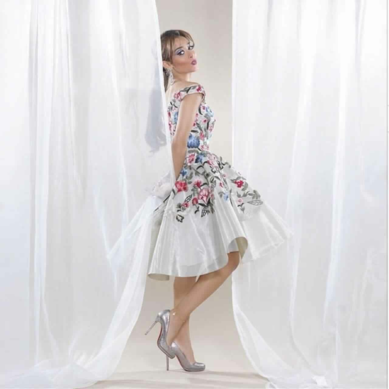 صور أحدث الفساتين التصميمات المميزة لبلقيس فتحى روعة