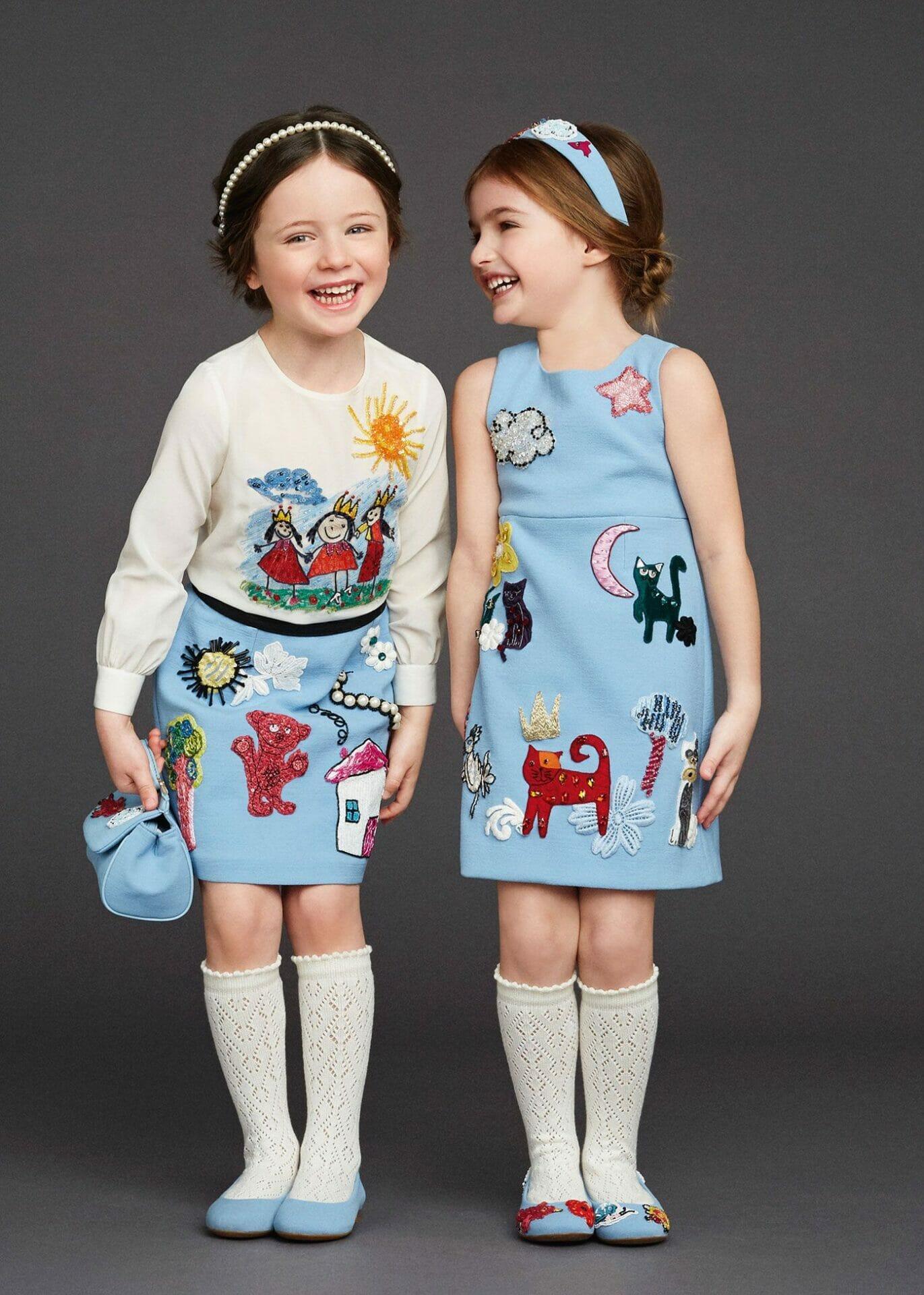 أزياء عيد الفطر المبارك للأطفال جامدة