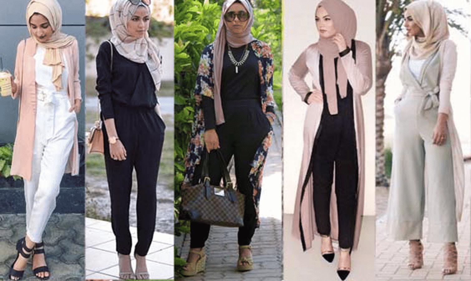 أفضل تصميمات لملابس المحجبات للمناسبات جامدة