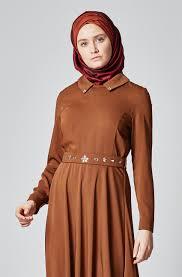 أجمل فستان تركي باللون البني جميلة