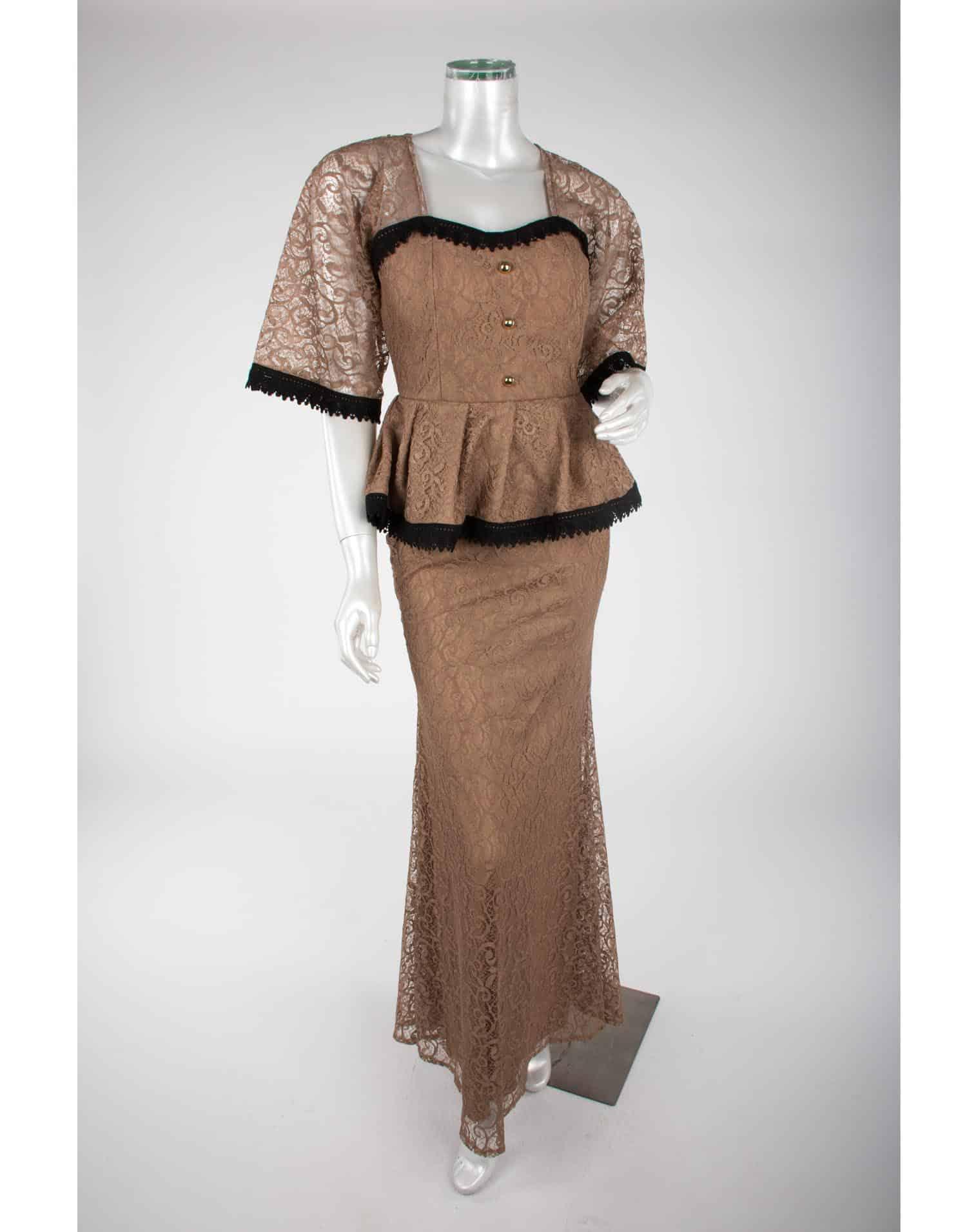 أحدث تصميمات الفساتين البنى على الطراز التركى روعة