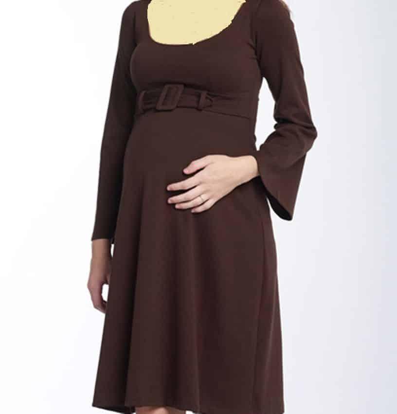 أحدث تصميمات الفساتين البنى على الطراز التركى حلوة