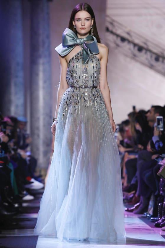 أحدث تصميمات الفساتين للمصمم ايلى صعب رائعة