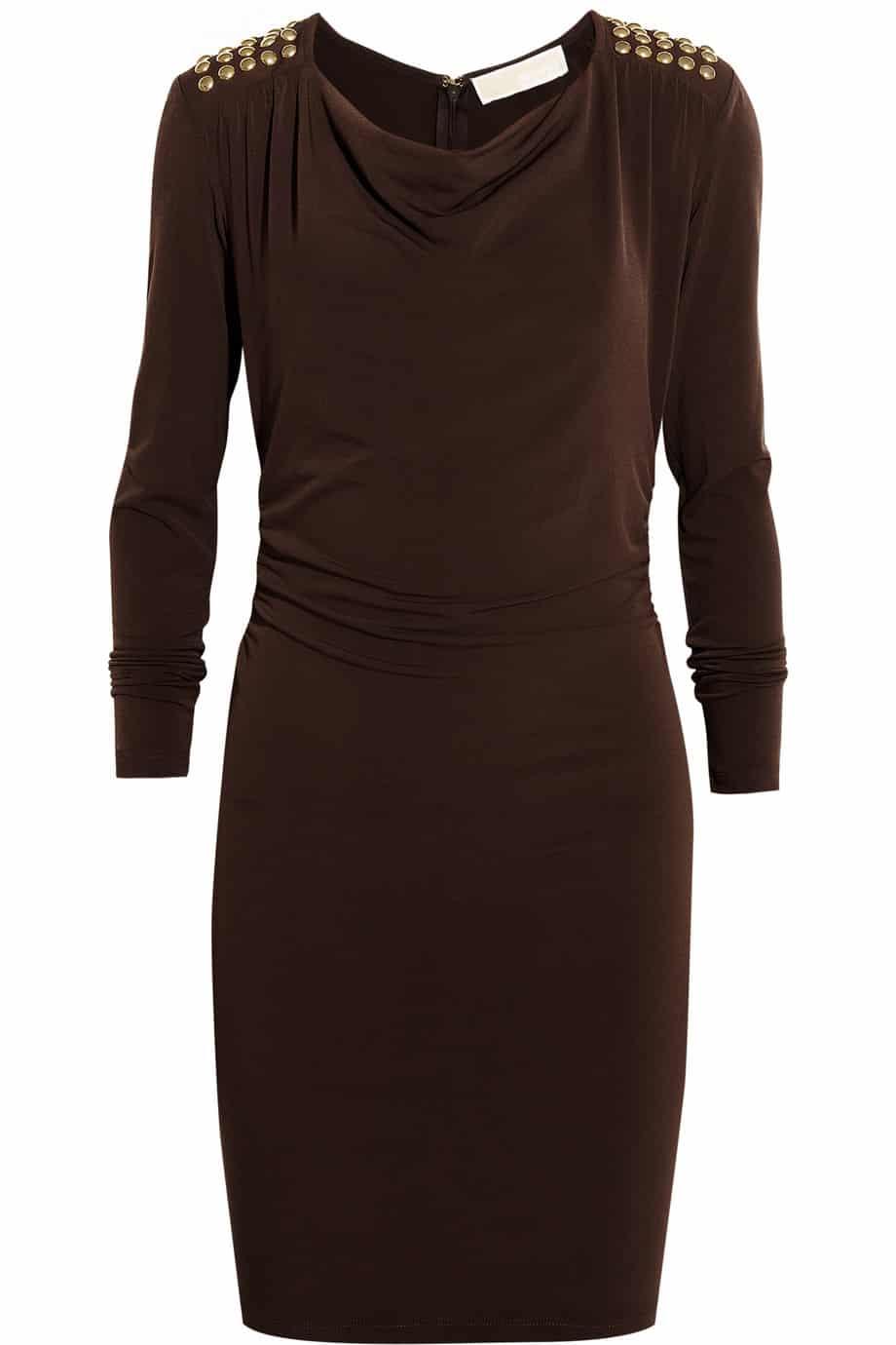 أجمل فستان تركي باللون البني جامدة