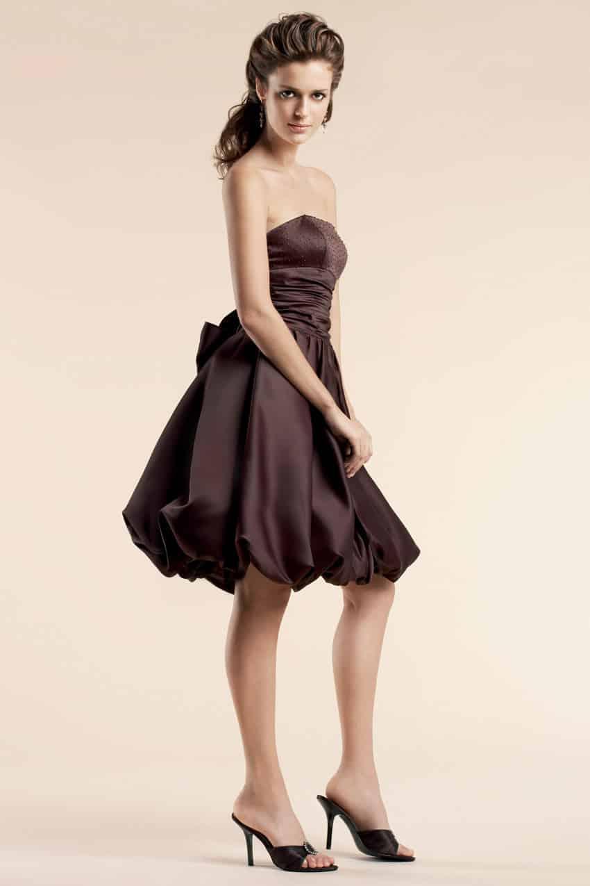 أجمل فستان تركي باللون البني روعة