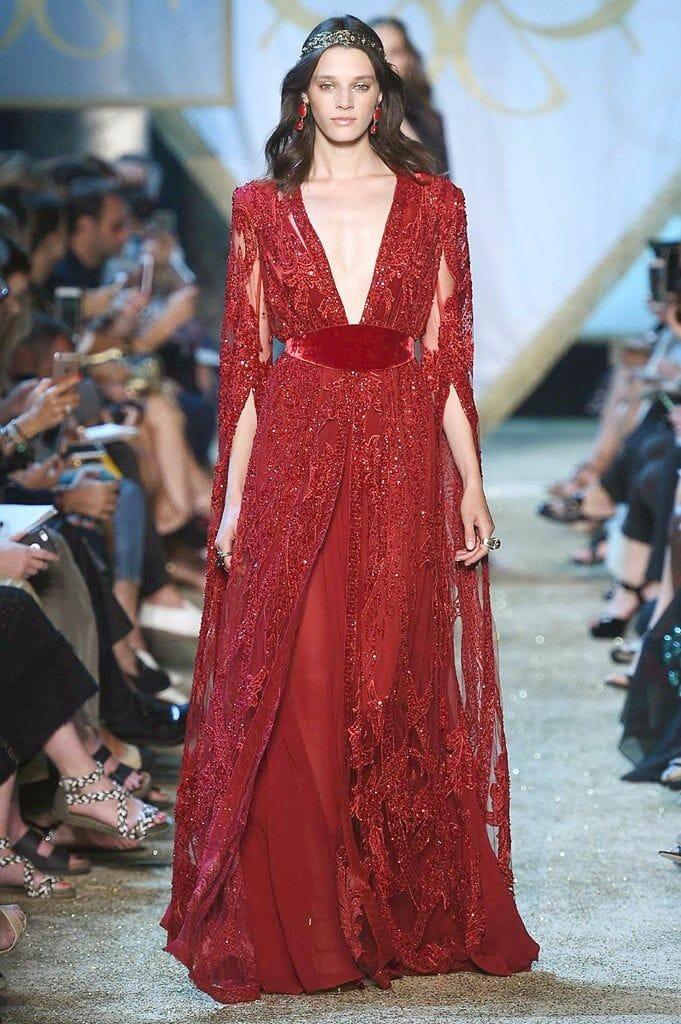 أحدث تصميمات الفساتين للمصمم ايلى صعب جامدة
