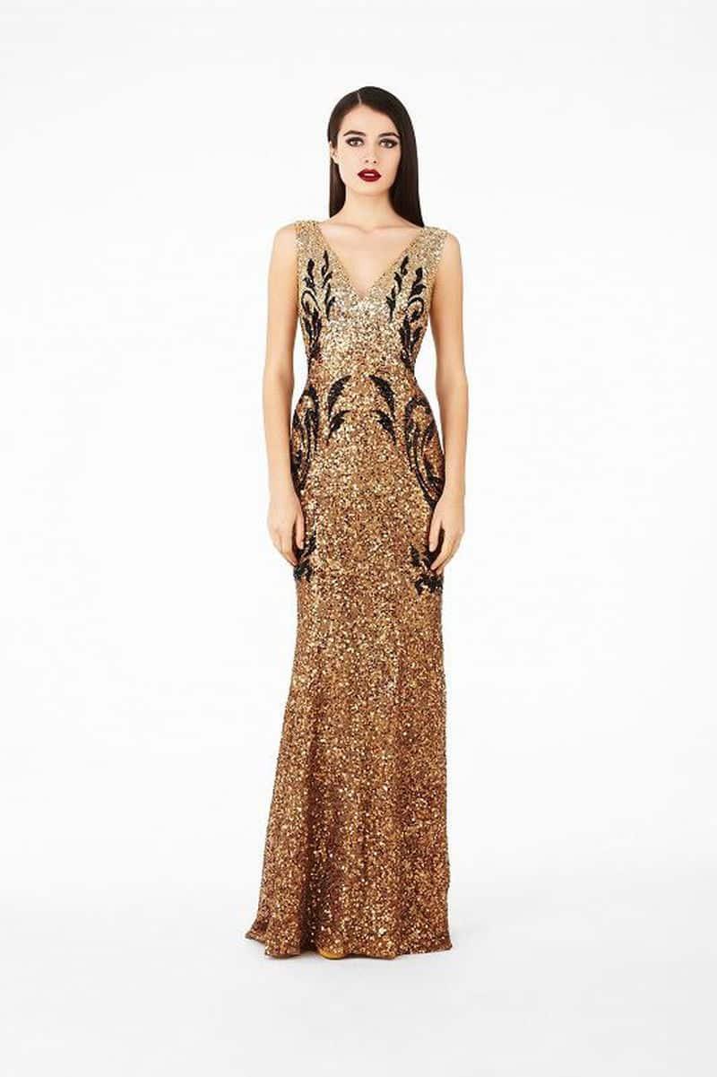 أحدث تصميمات الفساتين البنى على الطراز التركى جميلة