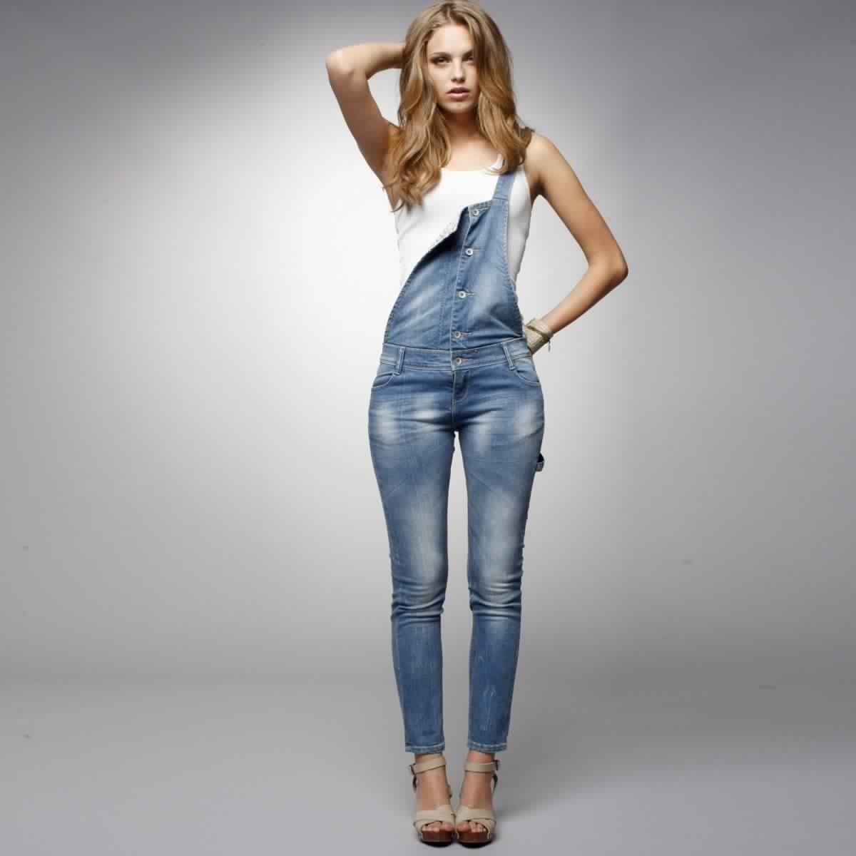 أجدد فساتين وسلوبيتات جينز للبنات جميلة جدا