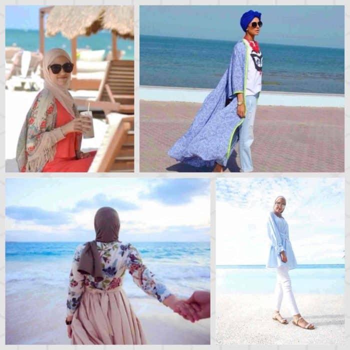 c1494a64b1ec6 ... صور ملابس محجبات للشاطئ صيف منوعة
