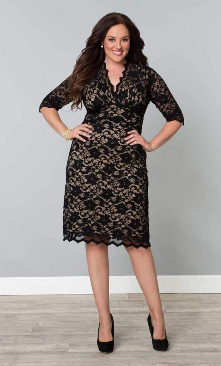 صور مميزة لفساتين التخان لإطلالة جذابة حلوة
