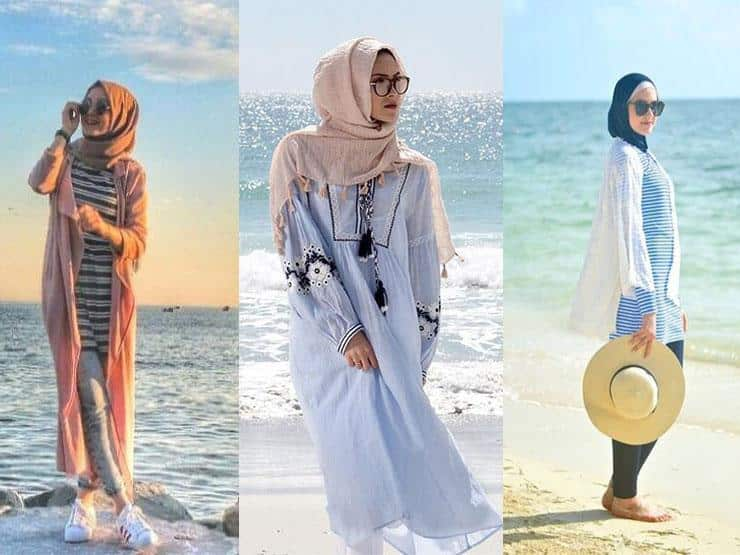 صور ملابس محجبات للشاطئ صيف روعة