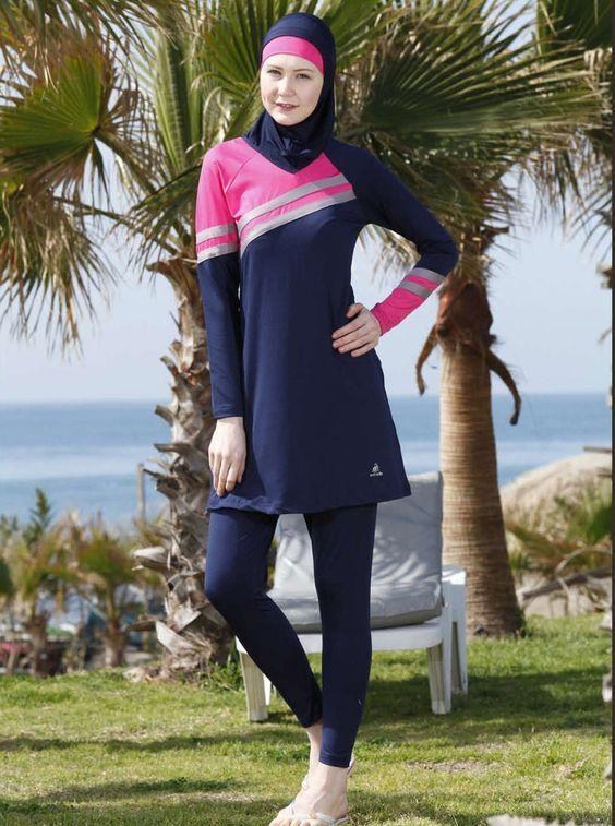 صور ملابس محجبات للشاطئ صيف متنوعة