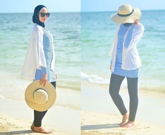 003b21d3c8f09 ... صور ملابس محجبات للشاطئ صيف رائعة