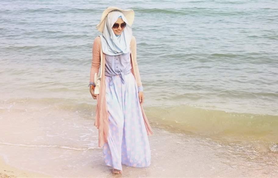 صور ملابس محجبات للشاطئ صيف منوعة