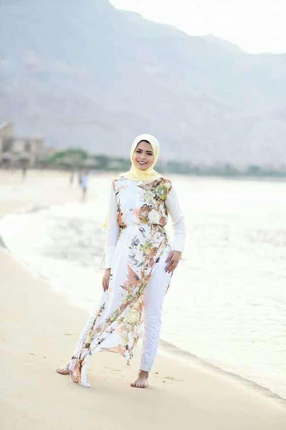 صور ملابس محجبات للشاطئ صيف جميلة جدا
