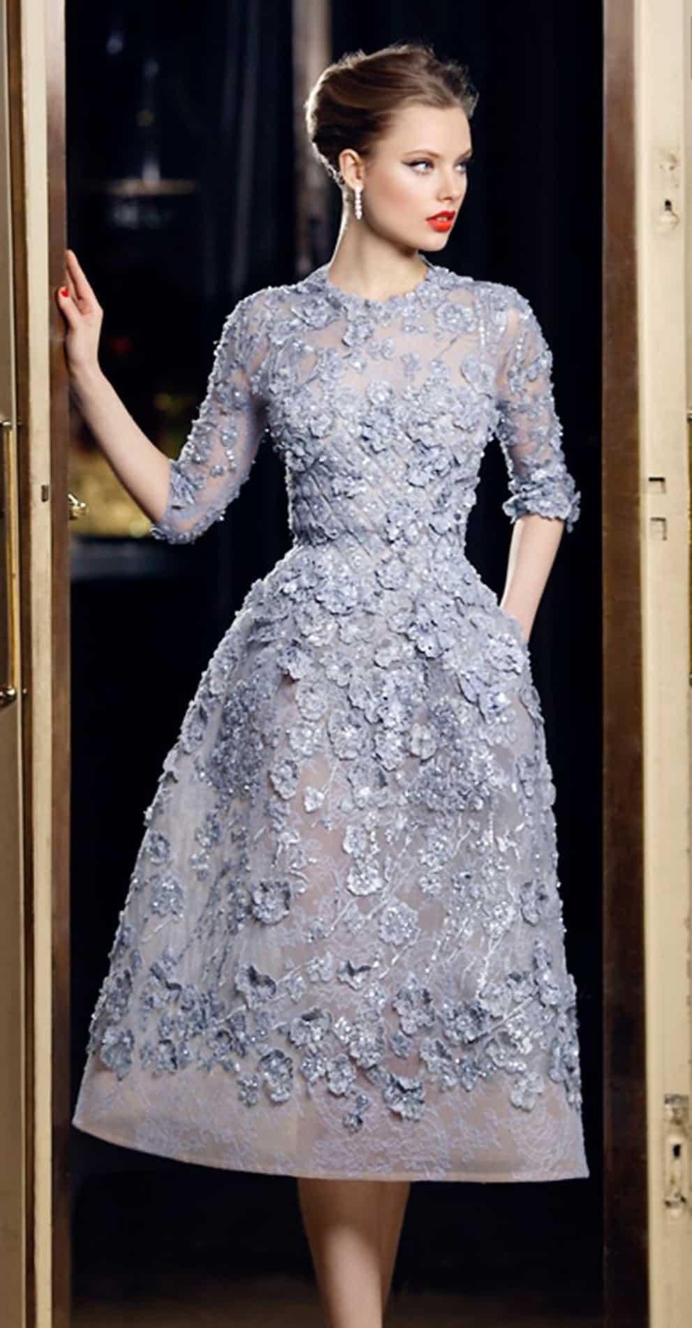 صور أجمل تصميمات لفساتين الخطوبة بألوان ربيعية منوعة