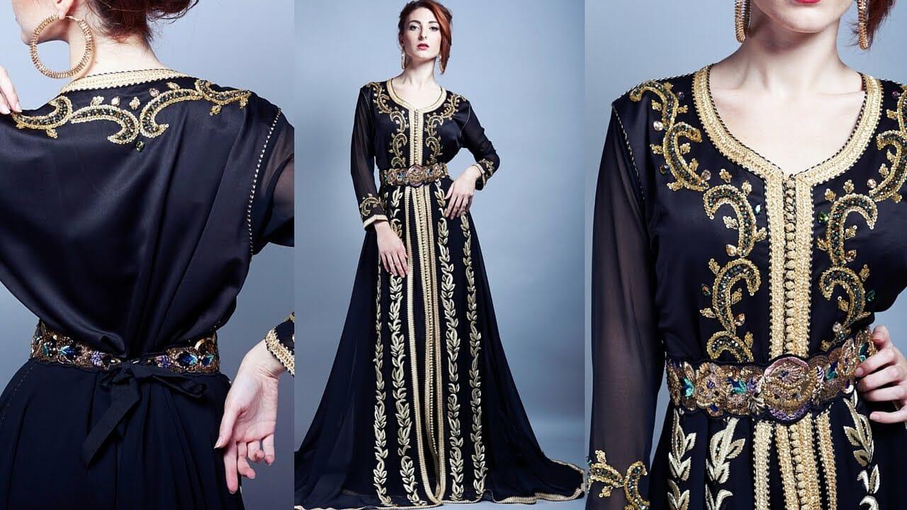 7867ea7e360f3 صور أخر صيحات الموضة للأزياء المغربية 2019 جميلة جدا