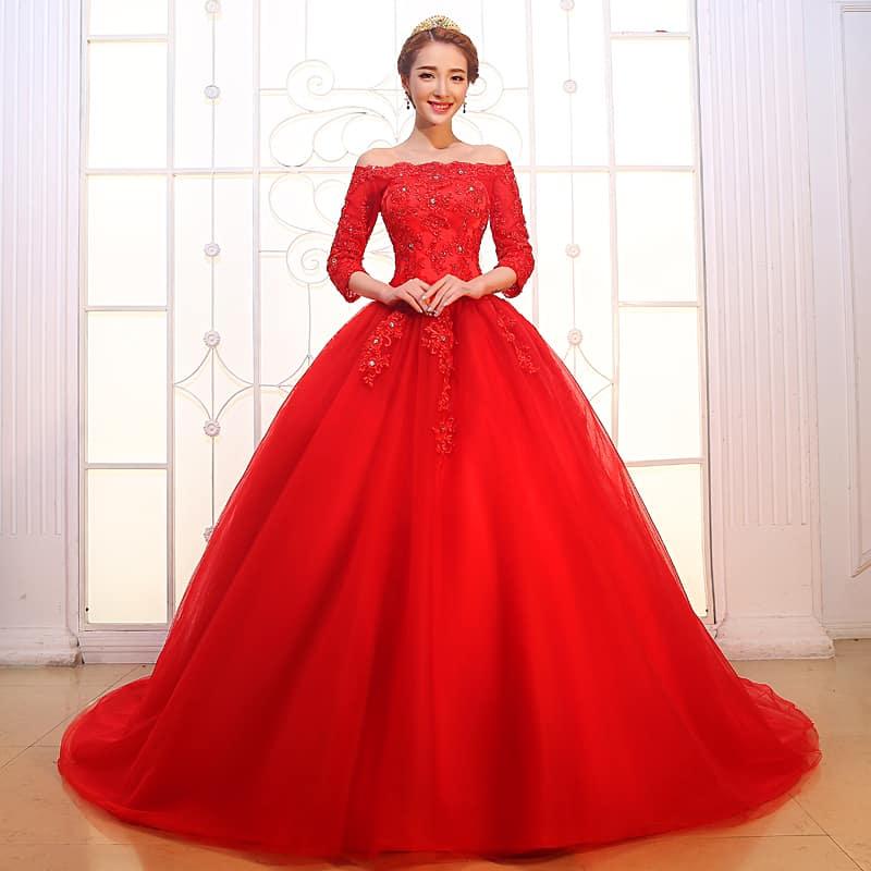 صور أحدث الموديلات لفساتين الخطوبة المنفوشة جميلة جدا