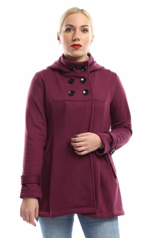 معطف البحارة للنساء من جميلة - بورجاندي