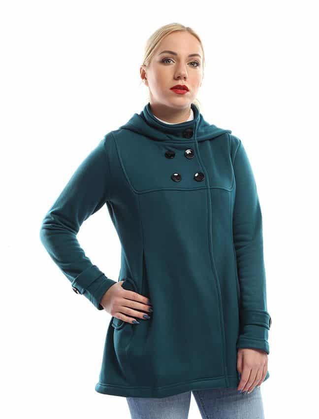 معطف البحارة للنساء من جميلة - تيل