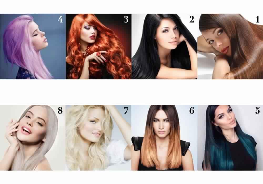 طريقة تحديد لون البشرة ولون الشعر حلوة