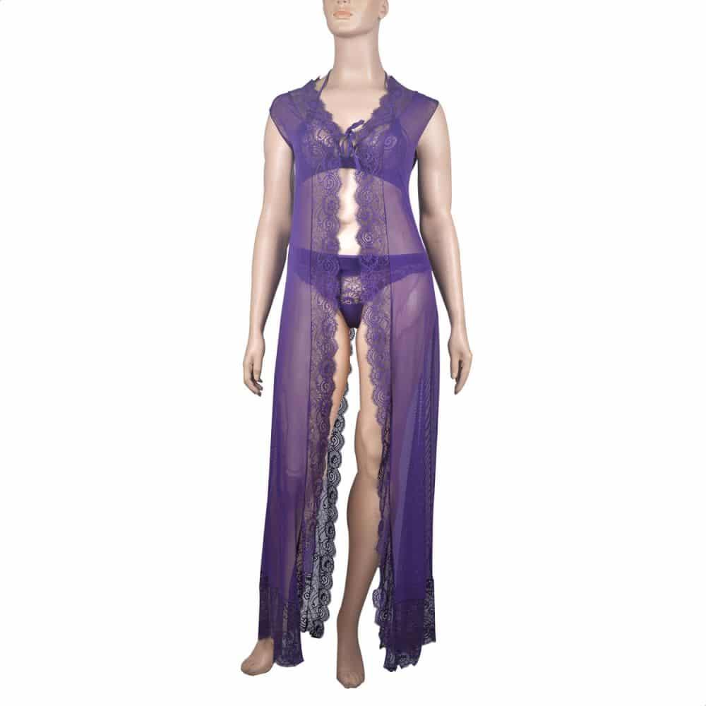 فستان لانجري من توب سيكريت للنساء - بنفسجى