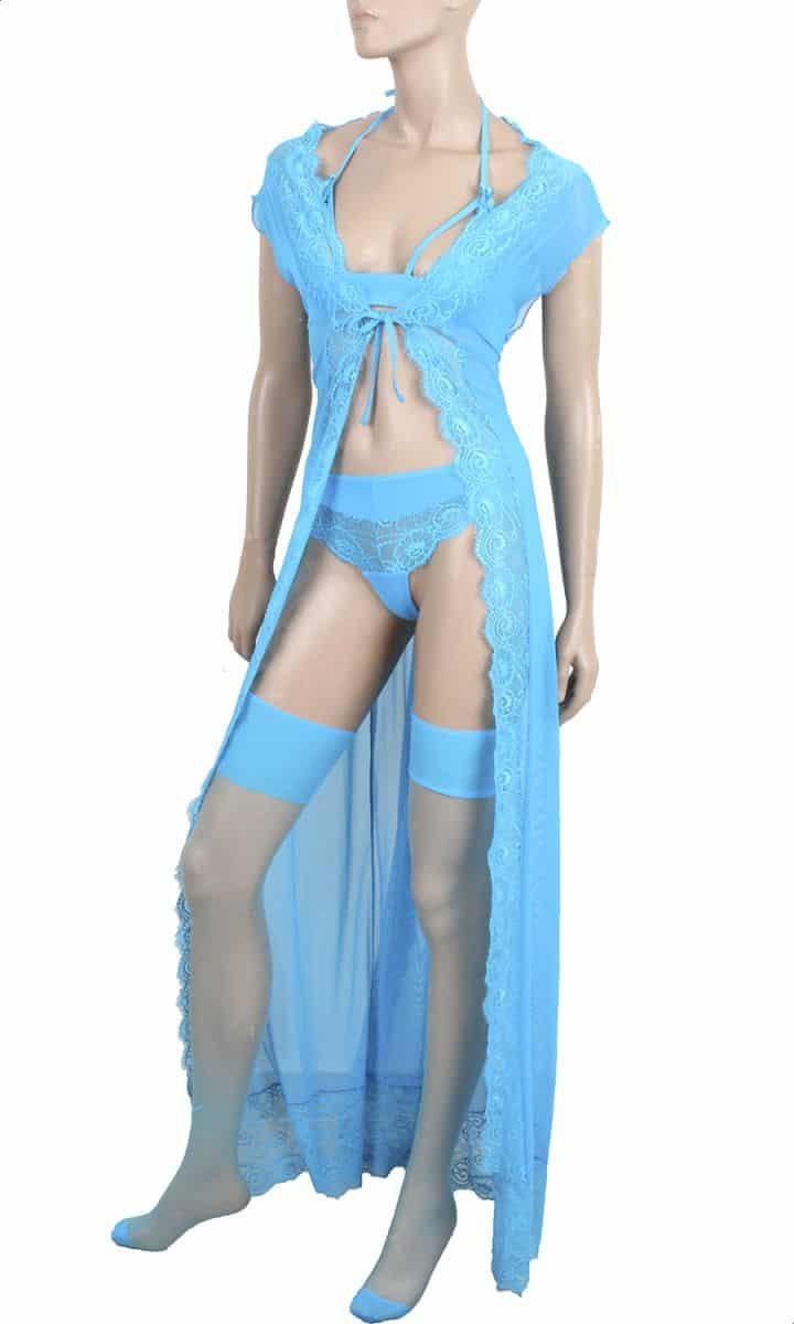 فستان لانجري من توب سيكريت للنساء - فيروزي